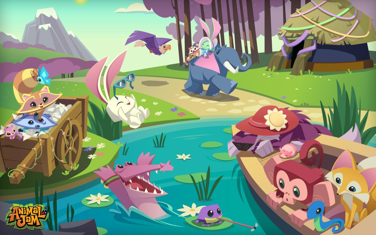 animal jam wallpapers worth: Imagen - Desktop Spring 1280x800.jpg