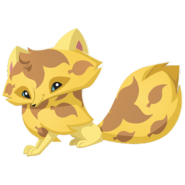 Arctic Fox art yellow leaf
