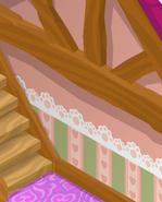 Friendship-Cottage Pink-Striped-Walls