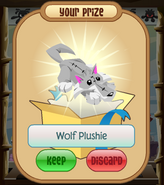 The-Claw Wolf-Plushie Grey