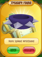 Lucky-Clovers Treasure-Epic-M Rare-Spiked-Wristband Short Purple
