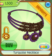 Turquoise Necklace purple