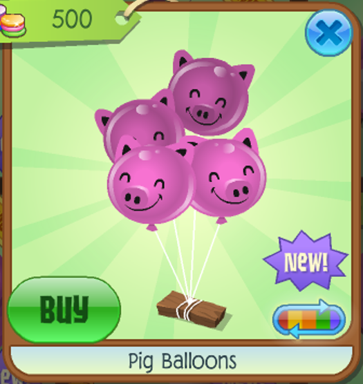pig balloons animal jam wiki fandom powered by wikia