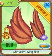 Streaked wing hair1