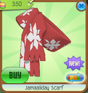 Shiveer-Shoppe Jamaaliday-Scarf Red