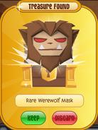 TFDPrize Rare Werewolf Mask Brown