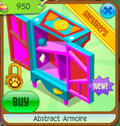 Abstract Armoire Open