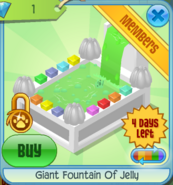 BHS Giant Fountain Of Jelly white