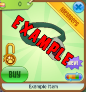 Shop Example-Item Green