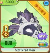 Feathered Mask purple