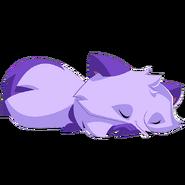 Arctic Fox art purple sleep