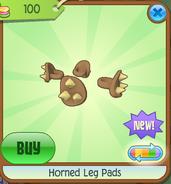 Horned Leg Pads Brown