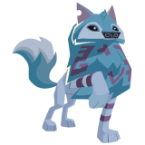 Arctic Wolf art proud paw