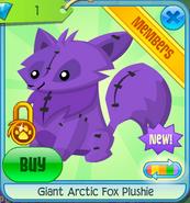 Giant Arctic Fox Plushie 4