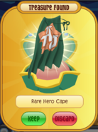 Rare green superhero cape