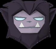 Rare werewolf mask purple
