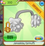 Jamaaliday Earmuffs (White)