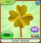 Clover Pinwheel yellow