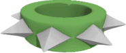 Short wristband large green
