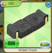 Striped Couch (Black-Gray)