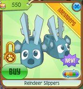 Reindeer slippers blue