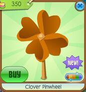 Clover Pinwheel orange
