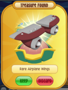 Rare airplane wings red