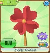 Clover Pinwheel red