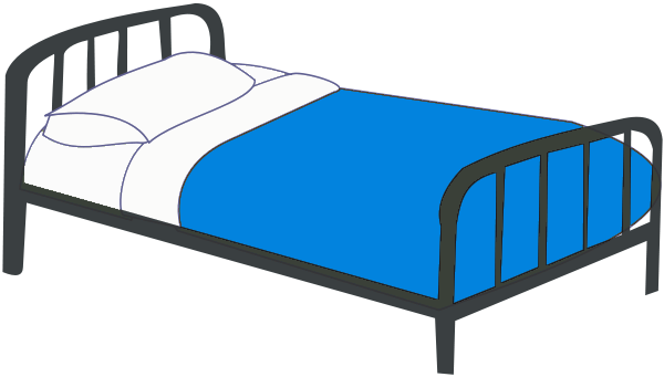 Bed Png Plain Filebedroomclipartsingle Blue Tpng With