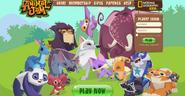Homepage of Animal Jam