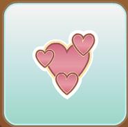 Jag Stamp three light hearts