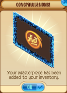 Masterpiece Blue-Pixel-Frame Added