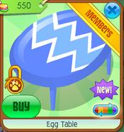 Egg Table - blue