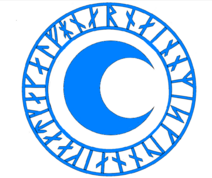 Blue Cresent Magic Symbol