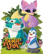 Animal Jam Kit, Punk Penguin, and Tiger Stand