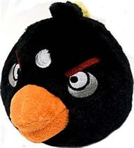 Black bird plush