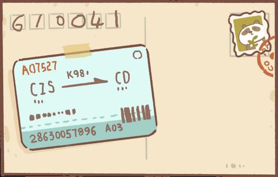 Border Collie's Postcard