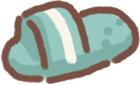 Slipper with Teeth Marks
