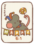 Handsome mouse's playing card