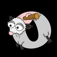 O for Opossum