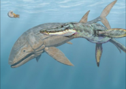 Liopleurodon and Leedsichthys