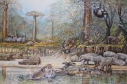 Art illustration of Megafauna in Madagascar
