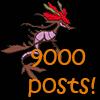 9000 posts