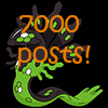 7000 posts