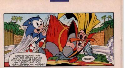Sonic double light speed