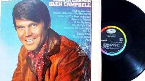 WITCHITA LINEMAN , GLEN CAMPBELL , 1968 VINYL LP