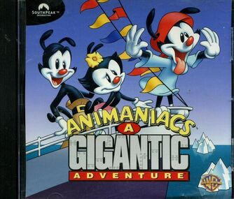 Animaniacs A Gigantic Adventure cd-rom cover