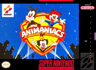 SNES Animaniacs Cover