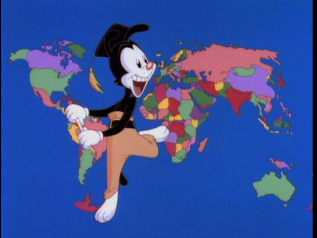 Yakkos World Song Animaniacs Wiki FANDOM Powered By Wikia - World map with countries and capitals wiki