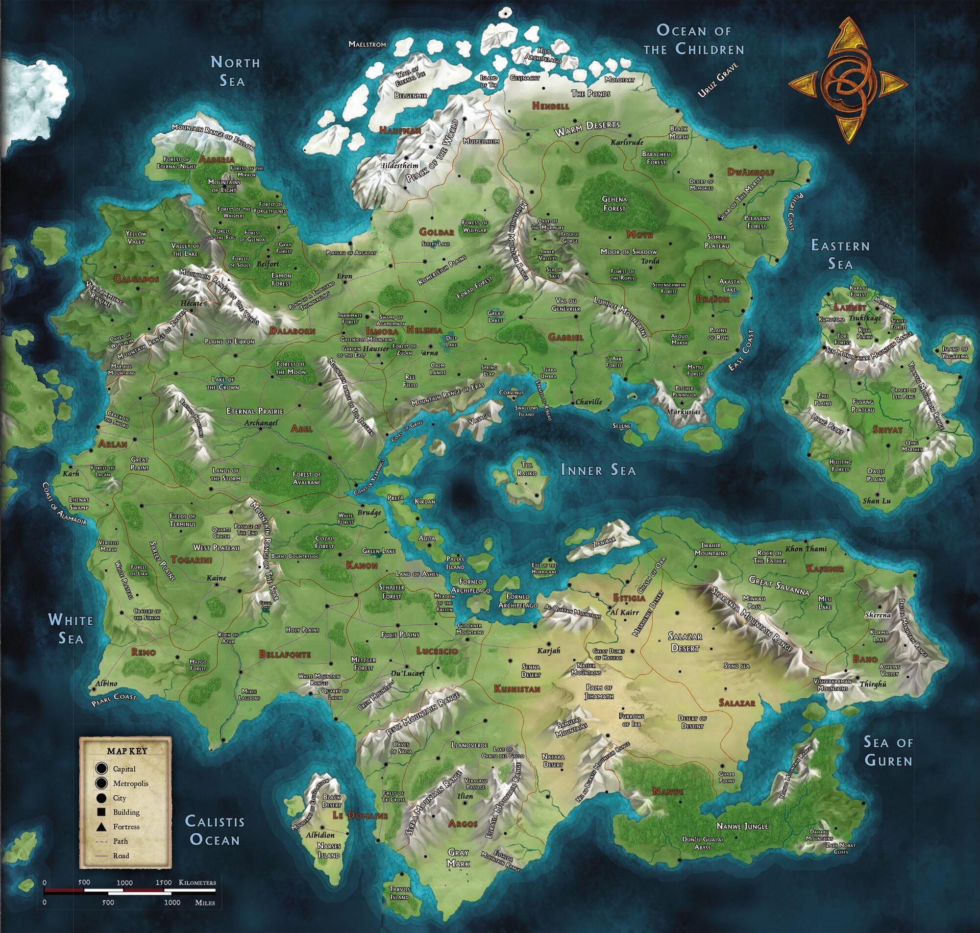 Map Of The World Anima Rpg Beyond Fantasy Wiki Fandom Powered